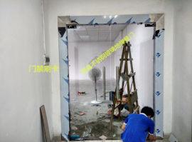 深圳玻璃门黑钛金玻璃门防火玻璃门办公室玻璃门
