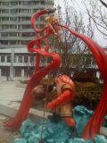 長春哪吒鬧海雕塑動漫主題卡通人物雕塑商業裝飾擺件