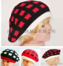 帽子 儿童帽子 针织贝雷款儿童帽子