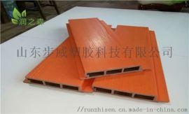 山东生态木外墙板 塑木共挤墙板园林工程  墙板