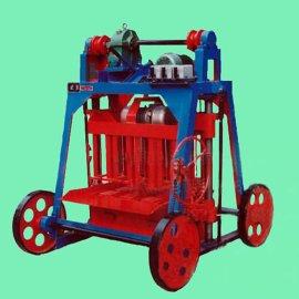 专业生产小型砖机 移动式水泥制砖机 半自动家用免烧砖机