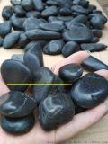 雞蛋大小鵝卵石報價 3-5釐米黑色打蠟雨花石多少錢