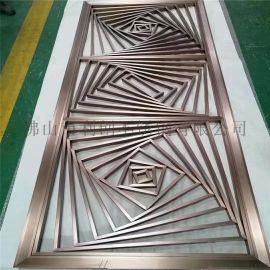 酒店镜面屏风专业定制不锈钢古铜中式屏风直销