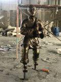 大型玻璃鋼系列仿銅人物雕塑廠家