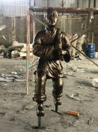 大型玻璃钢系列仿铜人物雕塑厂家