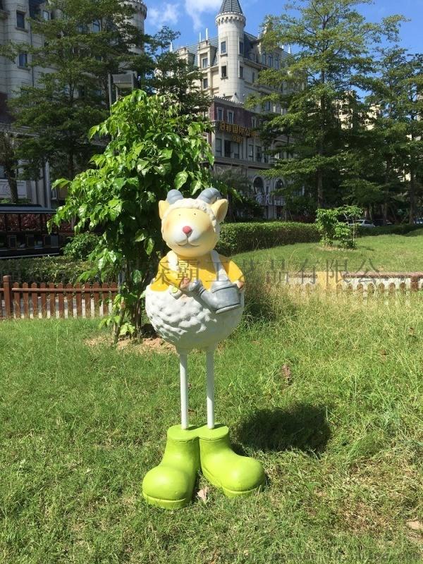 鎮江玻璃鋼羊雕塑批發 泰州園林商場庭院裝飾擺件廠家