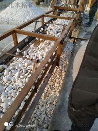 3-5厘米机制白色鹅卵石厂家 河北石家庄批发