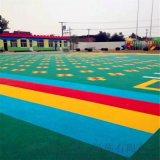 东丽区气垫悬浮地板篮球场塑胶地板拼装地板