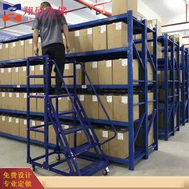仓库登高车 登高梯 袋轮子带刹车可移动梯子