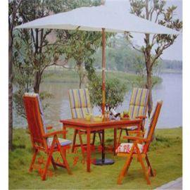 休闲桌椅组合藤椅子靠背椅户外休闲庭院防腐木桌椅