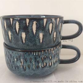 深色日用陶瓷茶杯高质量水杯