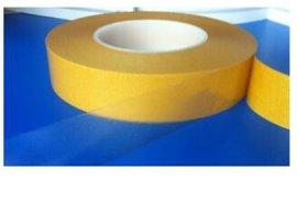 供应姜黄色离型纸透明双面胶 姜黄色硅油纸透明胶带
