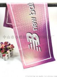 厂家订制超细纤维数码印花巾双面绒球迷运动巾