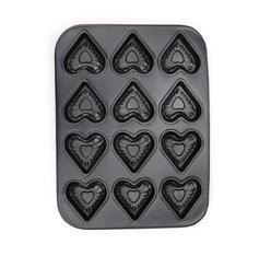 6杯和12杯新式心型碳鋼蛋糕模 (TR-FF03 & TR-FF05)