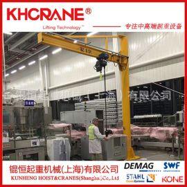 固定式电动环链葫芦运行式0.5吨悬臂吊起重机欧式电动葫芦旋臂吊