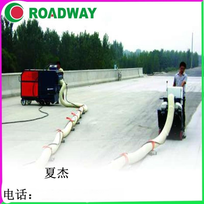 单抛室铁板除锈混凝土路面抛丸机经济款移动型