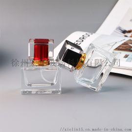 玻璃香水瓶30ml方形厚底香水玻璃瓶
