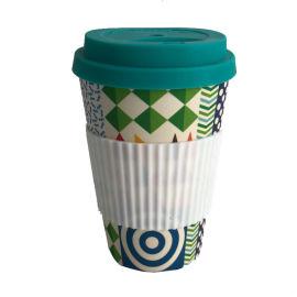 硅膠防燙竹纖維咖啡杯