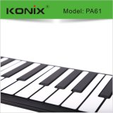 61鍵力度加厚帶手感可充電手捲鋼琴 矽膠摺疊電鋼琴 新款上市