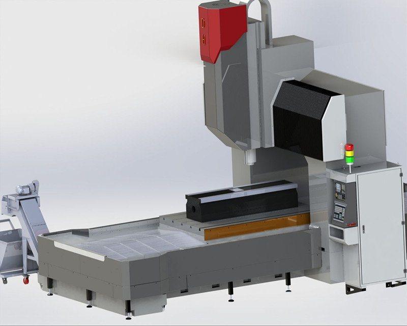 小型高精密数控定梁龙门镗铣床 DHXK-1512 现货供应量产数控机床