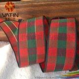 蘇格蘭風情新款聖誕禮品包裝絲帶紅色格子帶