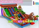 天津室外儿童充气滑梯跳跳床猴年流行款式定做厂家