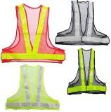 反光安全背心V型反光衣服网布背心