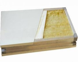 双玻镁岩棉板 玻镁岩棉净化夹芯板