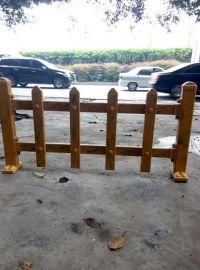 南充仿木色草坪PVC栏杆-栅栏
