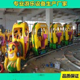 兒童小型軌道小火車   新型遊樂場設備軌道小火車低投資高收益