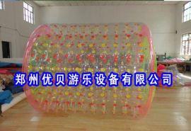水上滚筒安全操作 新款充气滚筒材料 步行球特性 水中行走的玩具