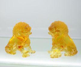 琉璃狮子工艺品,琉璃对狮子摆件,银行周年庆典纪念品,琉璃狮子印章纪念品,广州琉璃厂家,琉璃礼品