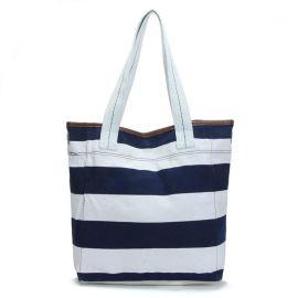 FLY002蓝白条纹帆布包(女装休闲系列)
