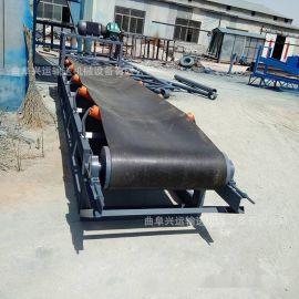 包胶滚筒带式上料机 大倾角皮带运输机价格LJ