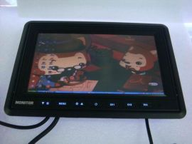 加尼鹰9寸液晶车载显示器 连接电脑 触摸屏 2路视频 倒车优先