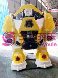 广场机器人战火形金刚大型电瓶玩具儿童娱乐机行走机器人广场机器人