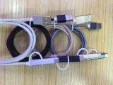 铝合金尼龙布编织二合一数据线