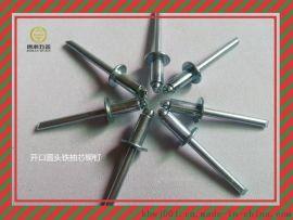 开口型扁圆头铁抽芯铆钉GB12618