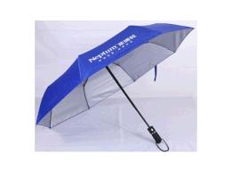 自动直杆广告折叠伞三折伞