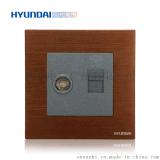 現代開關插座hyundai新款熱賣插座K70系列86型一位電視+電話插座