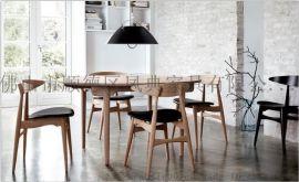批發時尚咖啡廳餐椅 茶餐廳實木休閒椅 歐式實木家用酒吧椅漢森椅餐廳餐椅