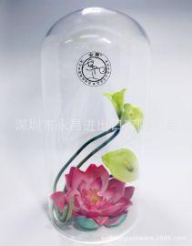 定制透明玻璃灯罩永生花玻璃罩玻璃摆件展示防尘罩