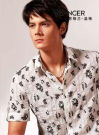 时尚商务白领短袖衬衫(7957)