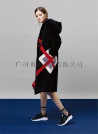 加盟女装品牌折扣店 原创设计师17年新款双面呢 品牌剪标
