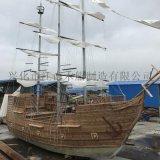 大型海盗船户外景观木船装饰摄影船