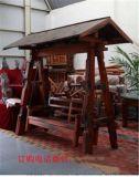 老船木古船木戶外帶篷秋千椅實木搖椅庭院秋千