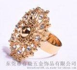 饰品厂家生产直供ring戒指 孔雀太阳钛钢戒指 速卖通新款潮流戒指