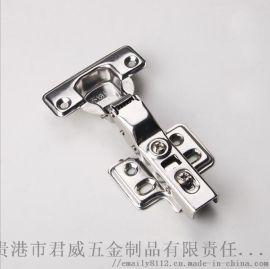 304不锈钢固定铰链衣橱静音液压缓冲铰链