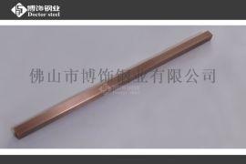 不锈钢制品 不锈钢镀红古铜亮光管材