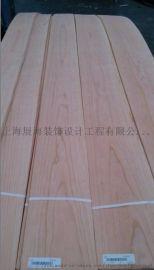厂家直供红橡山纹纹木皮室内家具装饰木质贴皮